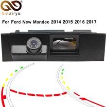 Sinairyu HD динамический траектории Парковка линии автомобиля треков ствол ручка заднего вида камера для Новый Ford Mondeo 2014 2015 2016 2017