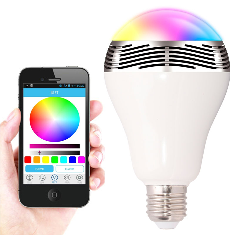 2in1 Wireless Speakers Bluetooth Speaker colorful Bluetooth font b Smart b font Led Lights Bulb 100