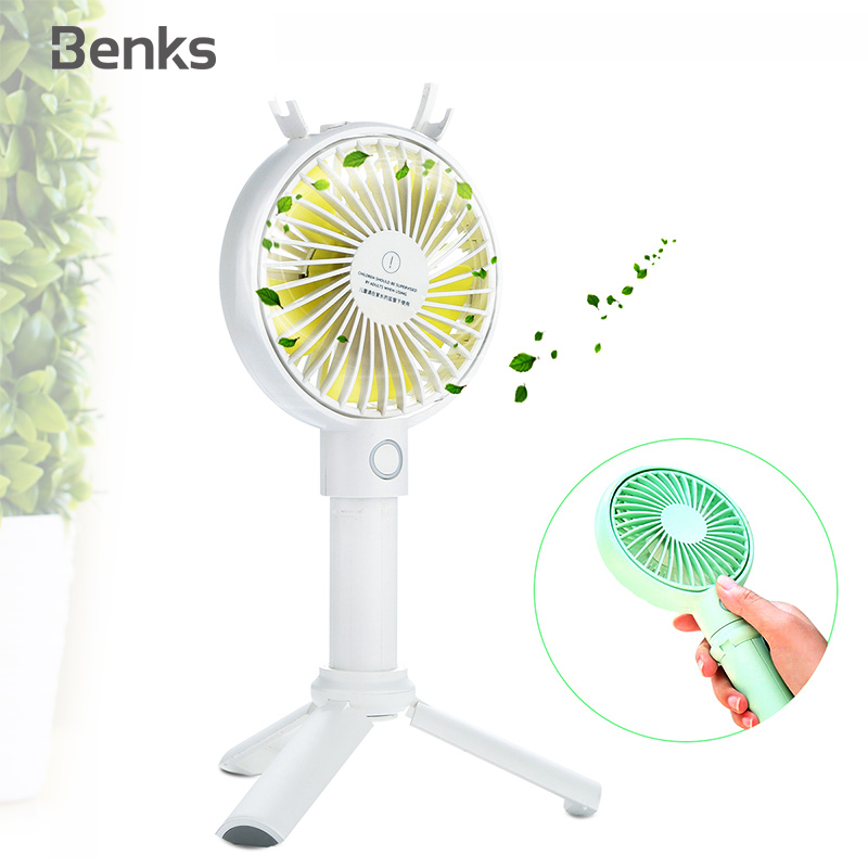 Portable Handheld USB Fan 3 Speed Air Cooler Small Desk Desktop Table Office Fan Rechargeable Mini Fan 2000Mah//3350Mah,White 2000Mah