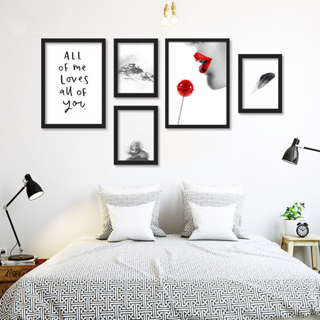 Black And White Art Bedroom