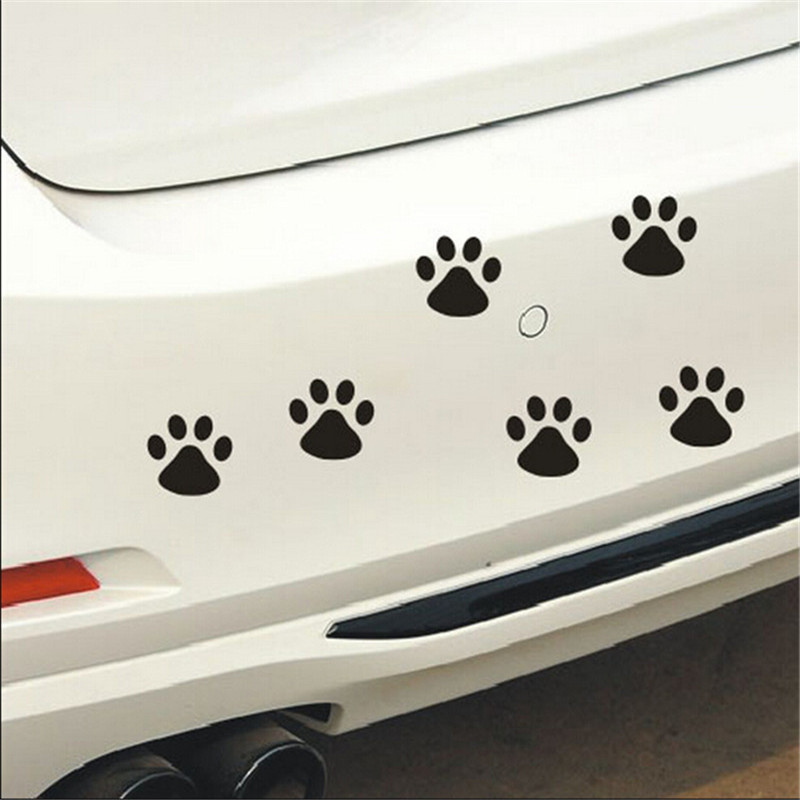 EHAO 10Pcs 3D Cat Paw chien Auto Claw voiture camion Laptop iPad mur de la fen/être Moto D/écor Sticker autocollant
