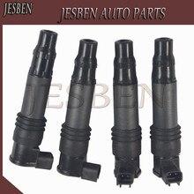 JESBEN 4PCS Ignition Coils 4PCS 129700-4400 Fit FOR SUZUKI GSX1300R Hayabusa 1300R 1999-2009 2011 2012 NO# F6T547 1297004400