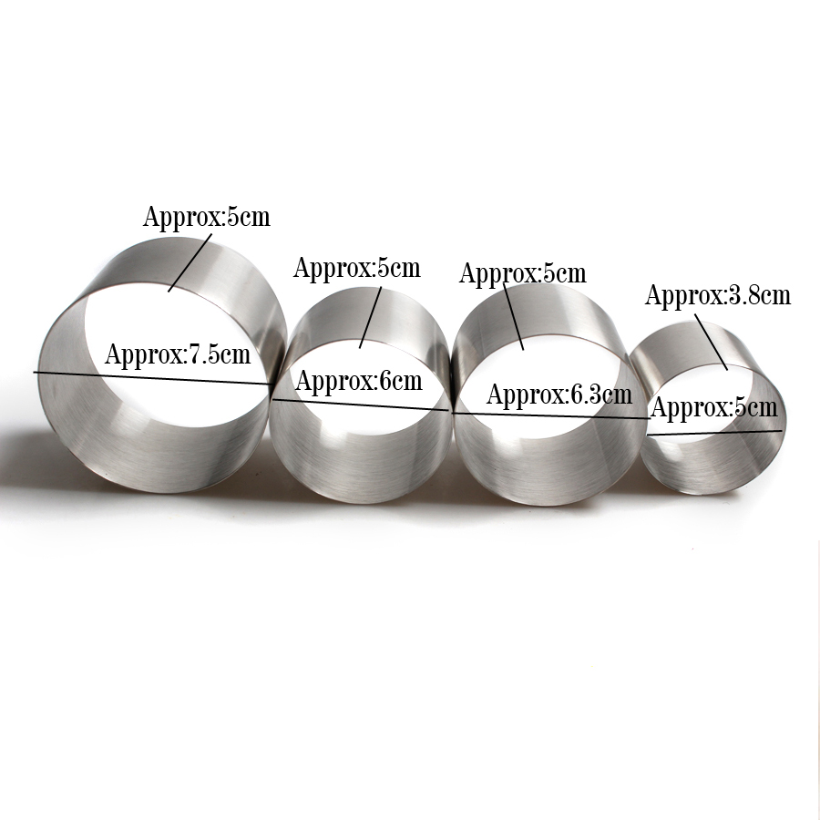 Image 2 - 50mm 60mm 63mm 76mm Diameter Stainless Steel Round Shape Mousse Ring Cake Mold Mousse Cake Ring Baking Cake Decorating Tools-in Cake Molds from Home & Garden