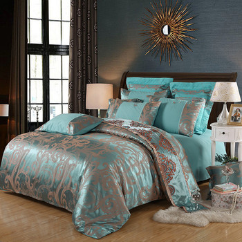 2020 home bedding set Jacquard duvet cover set high quality 4pcs/set embroidery bed linens luxurious bedclothes super king bed