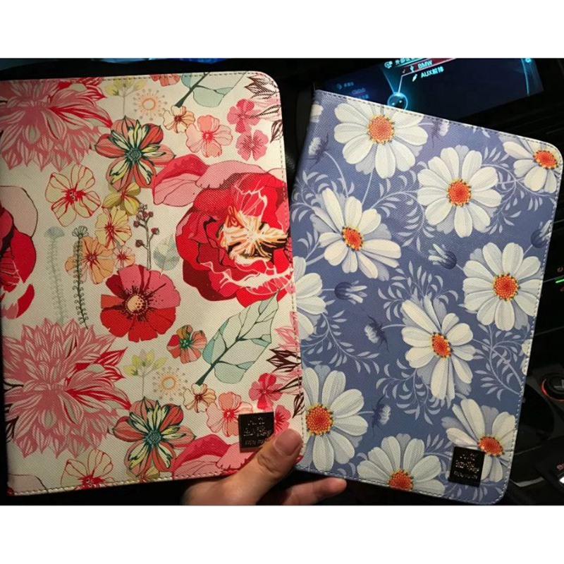 Tablet Case for Apple ipad mini 1 2 3 flowers Rose daisy prints multifunction PU leather