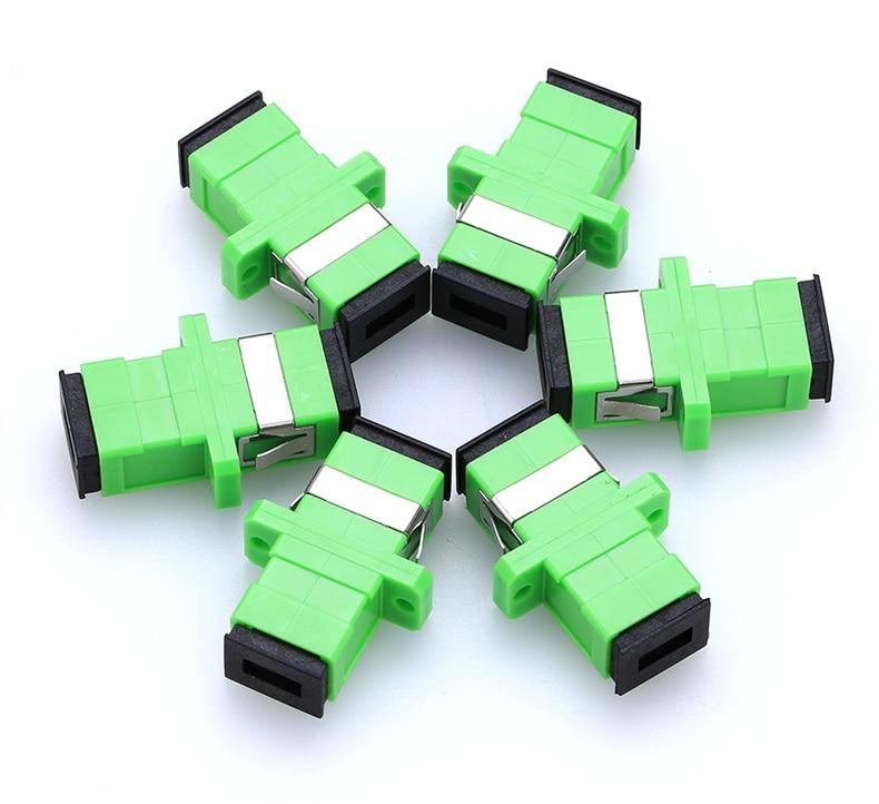 200pcs SC APC Adapter Connector Simplex SM Single Mode Plastic Fiber Optic Adapter