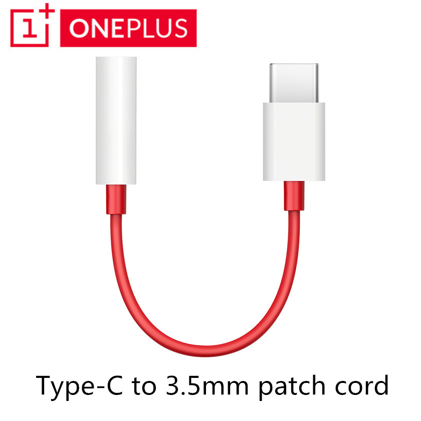 Original Oneplus 6T Type-C To 3.5mm Earphone Cable Adapter Usb Type C USB-C Male To 3.5 AUX Audio Female Jack Converter Cable