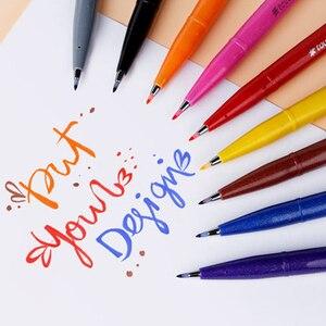 Image 5 - Pentel اللمس الملونة فرشاة تسجيل مجموعة أقلام 6/12 ألوان مجموعة SES15C لينة رئيس مجموعة مواسم محدودة لرسم بطاقات عيد ميلاد