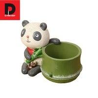 Dehomy Creative Cartoon Flower Pots Multi Flower Pots Resin Pots Micro Landscape Flower Pots Ornament Home