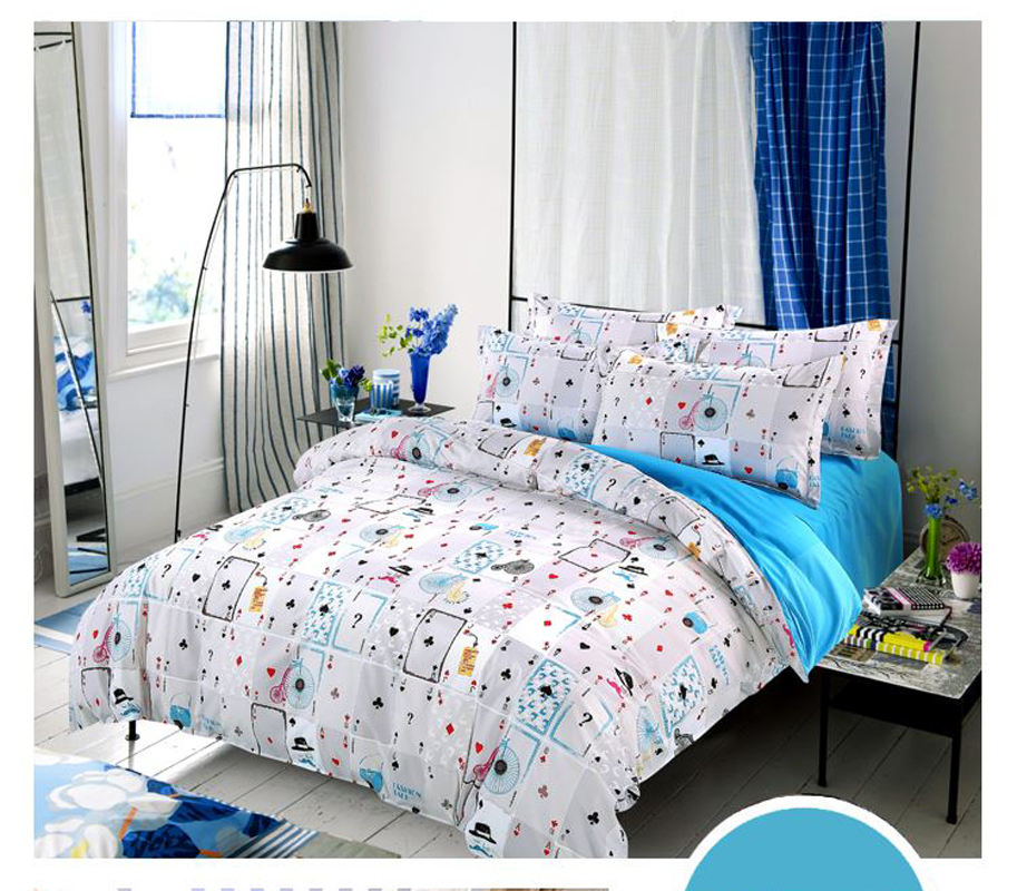 Hot Sale Home Textile 3/4pc Bedding Sets Size For Twin