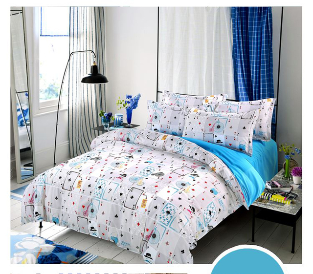 Superbe Hot Sale Home Textile 3/4pc Bedding Sets Size For Twin Full Queen King Home