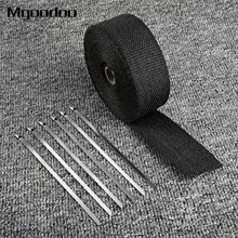 10M Motorcycle Thermal Exhaust Header Pipe Tape Heat Insulating Wrap Tape Resistant Downpipe Durable Stainless Steel Ties Black sclmotos 5 10 15m titanium color exhaust pipe header heat wrap resistant exhaust stainless steel ties wrap for car motorcycle