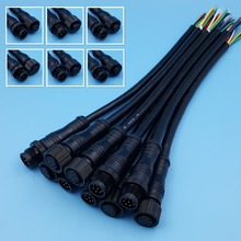 5Pairs Black Waterproof IP68 2/3/4/5/6/8 Pin 20cm Male and Female LED Strip Cable