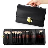 26Pcs makeup brush animal hair horse hair makeup tools full set of mahogany handle double bag professional makeup brush set