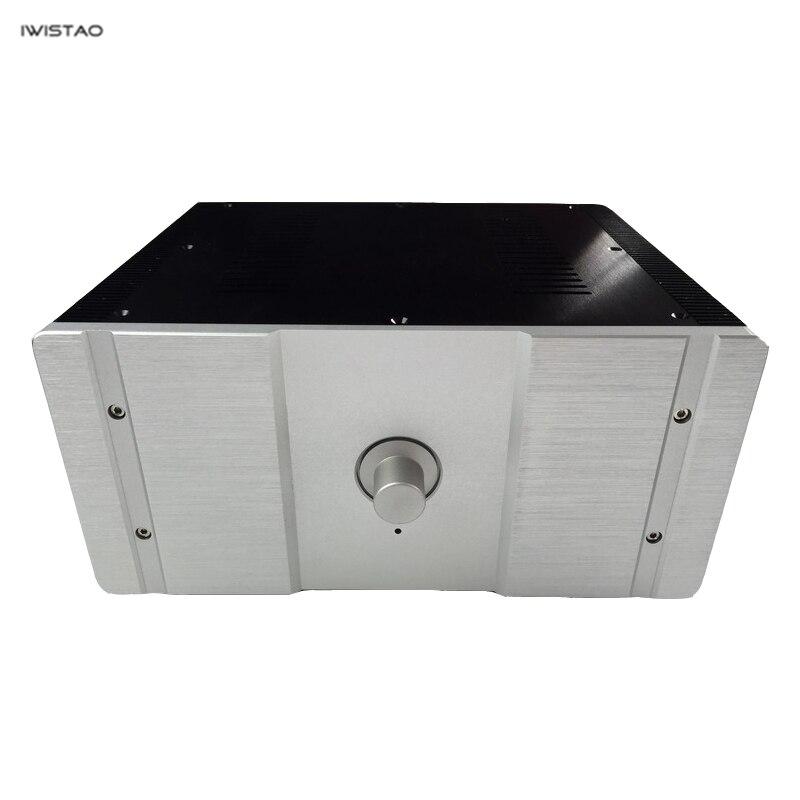 IWISTAO amplificateur HIFI boîtier classe A W315 * D260 * H150mm tout en aluminium préampli Tube Amp noir argent panneau bricolage