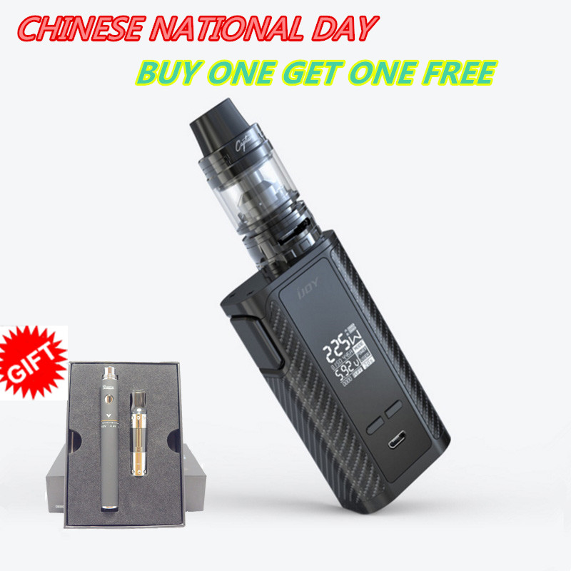 IJOY Original Captain PD1865 Vapor Kit with Captain S Tank E-cigarette 225W Captain Box Kit with 4ml Atomizer VS Revenger Kit fruit mango flavor e liquid for e cigarette by hangsen