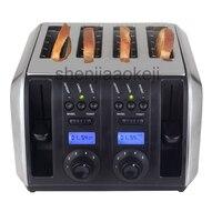 Comercial torradeira torradeira Em Aço Inoxidável Multifuncional máquina de cozimento Doméstico 4 fatias torradeira 220 v/HZ 1750 w 1 50 pc