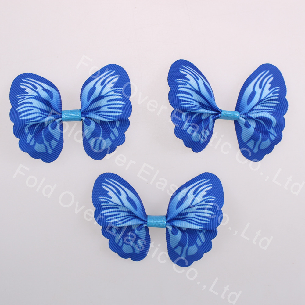 200 pcs/paquet noeud papillon ruban bleu noeud papillon