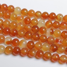 Baihande Natural Carnelian Red Agate Onyx Stone 4 6 8 10mm Round Gemstone Loose Beads For Necklace Bracelet DIY Jewelry Making xinyao jewelry loose 40 4 6 810 12 14 f369 onyx agate beads