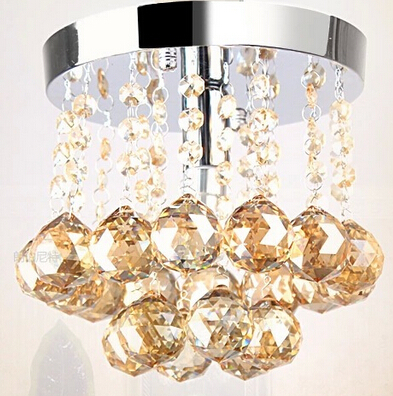 fashion luxurious Dia 15/20cm clear/champange K9 crystal led e14 ceiling light for living room aisle entrance 1911 fashion crystal flower rgb changeable led ceiling light for living room entrance aisle dia 20cm 2117