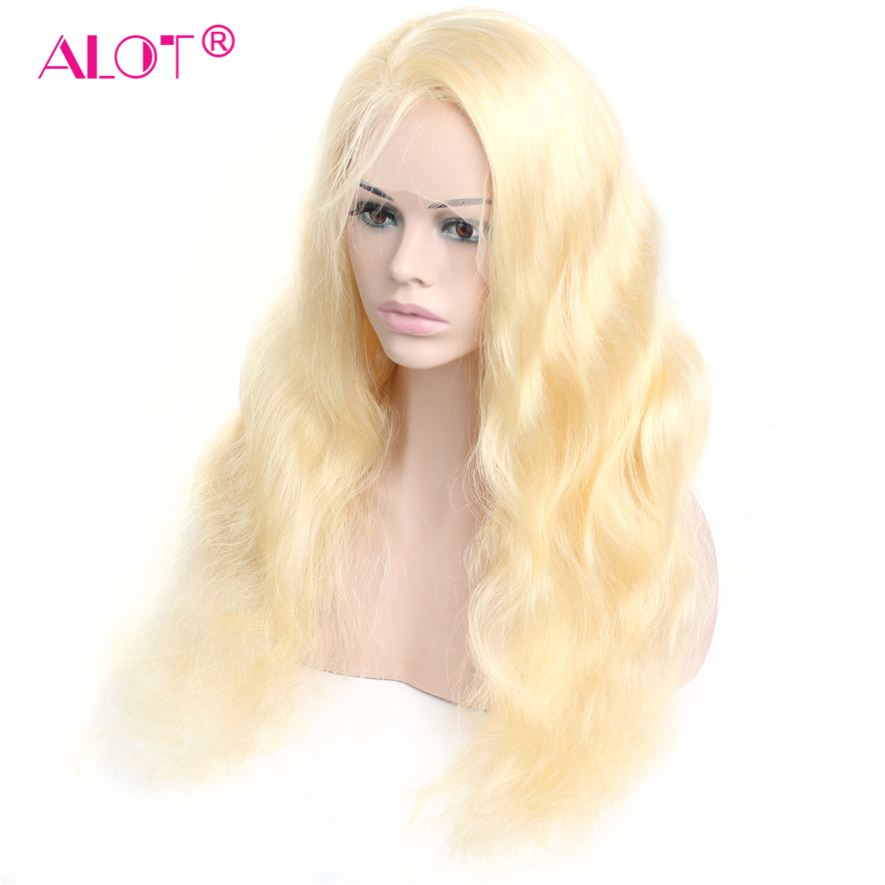 Blonde Lace Front Wig 613 Lace Front Human Hair Wigs Pre Plucked Hairline Brazilian Body Wave Blonde 13x4 Lace Wigs Remy Alot