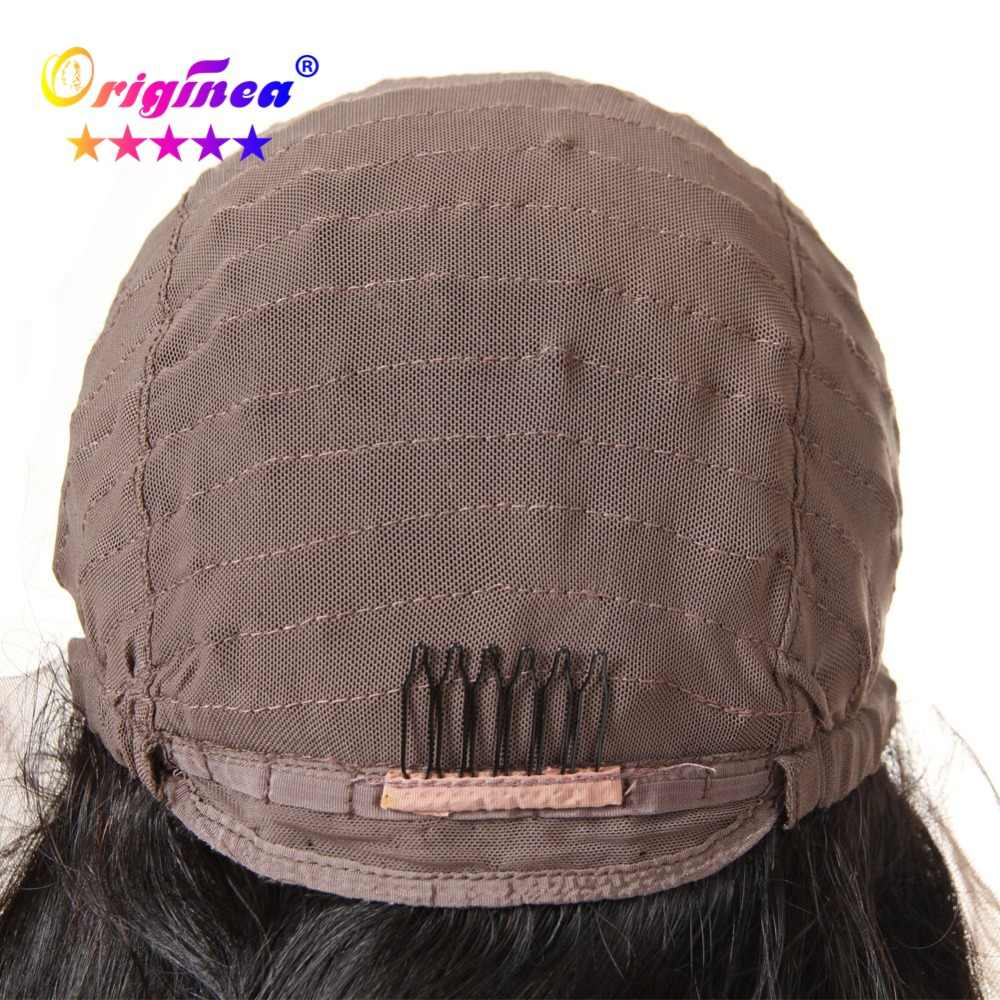 Оригинальные волнистые парики из натуральных волос для женщин, бразильские волосы remy, бесклеевая кружевная передняя часть, парик из натуральных черных волос для детей