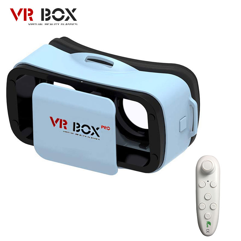 "<font><b>VR</b></font> BUCINUM <font><b>VR</b></font> <font><b>BOX</b></font> 3.0 <font><b>PRO</b></font> 3D <font><b>Glasses</b></font> Virtual Reality <font><b>VR</b></font> Headset for 4.5-5.5"" IOS / Android Smartphones +Bluetooth Controller"
