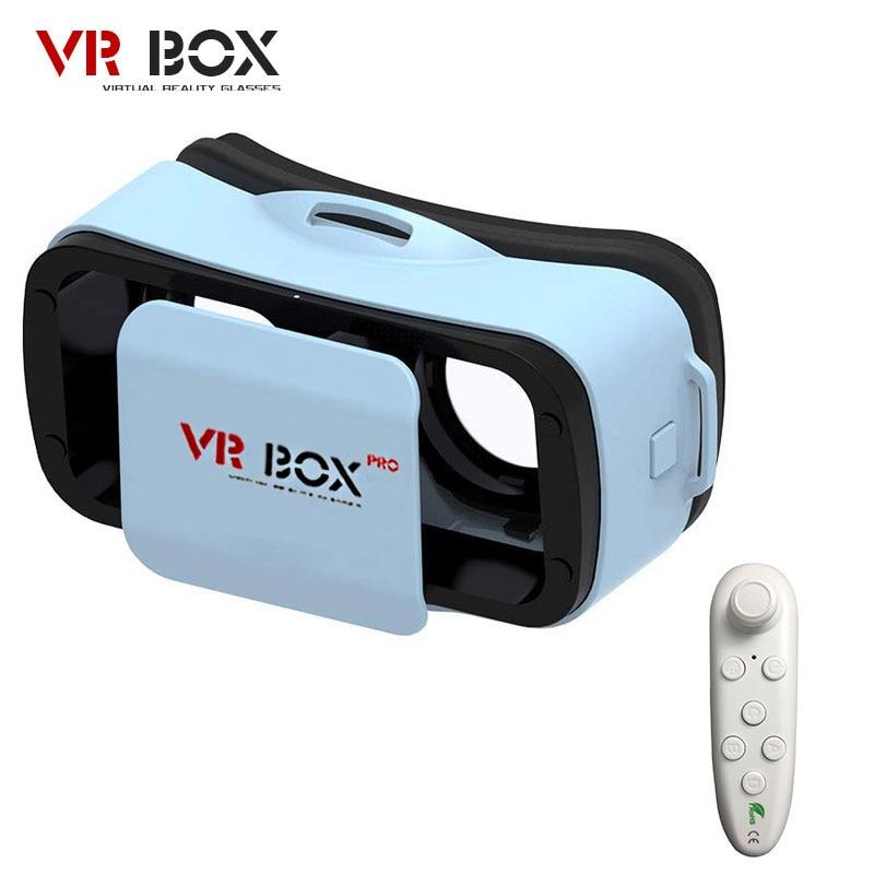"""Vr bucinum VR коробка 3.0 PRO 3d Очки виртуальной реальности VR гарнитура для 4.5-5.5 """"IOS/Android смартфоны + контроллер Bluetooth"""