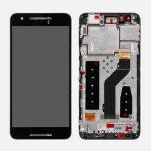 Oudini עבור Google Nexus 6 P H1511 H1512 LCD מסך תצוגה עם מסגרת עצרת החלפה עבור נקסוס 6 P LCD