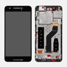 Oudini dla Google Nexus 6 P H1511 H1512 ekran LCD wyświetlacz z zamienny zestaw ramy dla nexusa 6 P LCD