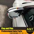 2016 modelo estilo do carro para Nissan Qashqai alta qualidade chrome espelho retrovisor chuva sobrancelha decoração quadro 2 pcs