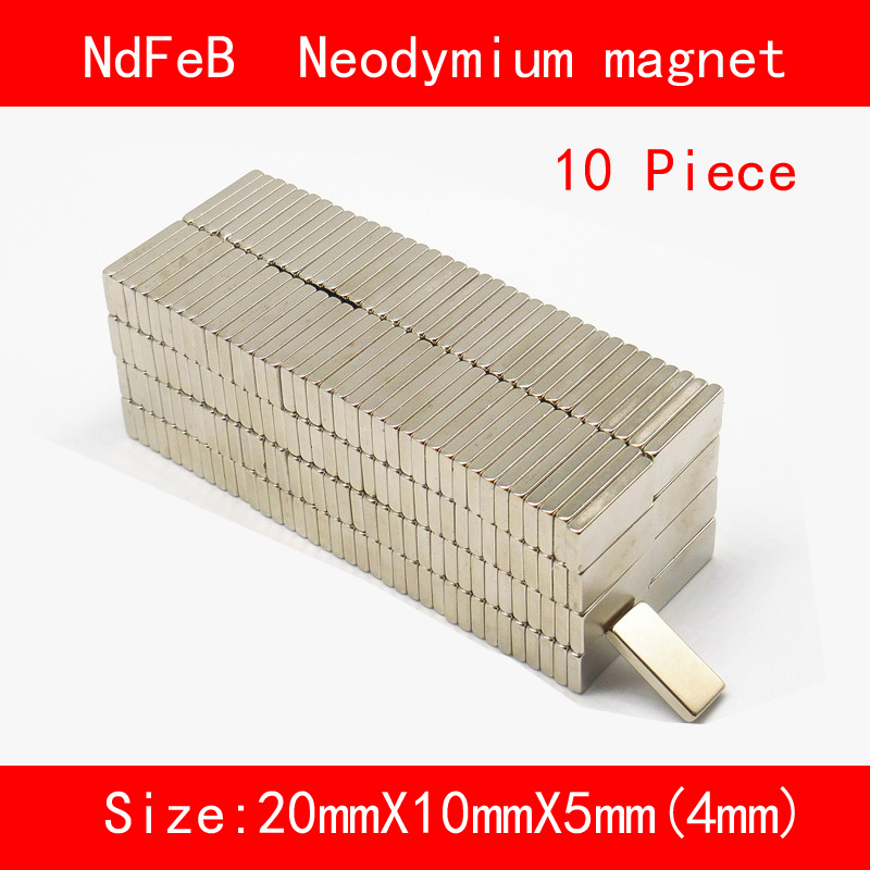 10PCS 20*10*4mm 20*10*5mm n35 Rare Earth strong permanent NdFeB Neodymium Magnet