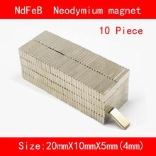 10PCS 20*10*4mm 20*10*5mm n35 Rare Earth strong permanent NdFeB Neodymium Magnet цена и фото