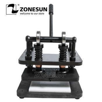 ZONESUN 2614 Hand leather cutting machine DIY wallet bag photo paper PVC/EVA sheet mold cutter leather Die cutting machine - DISCOUNT ITEM  10% OFF All Category