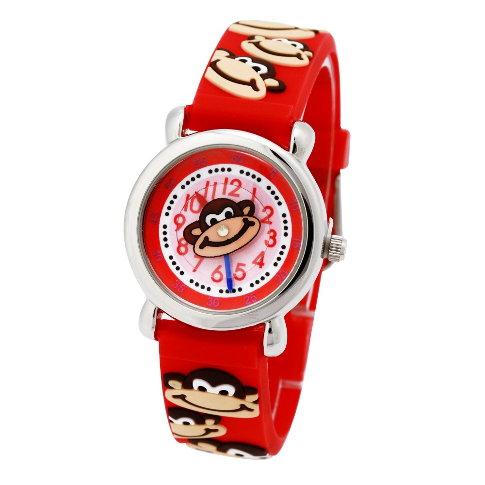 Watches Reloj 2017 Hot Sale High Quality Fashion Monkey Pattern Leather Band Analog Quartz Vogue Wristwatches Dropshipping 17jan17