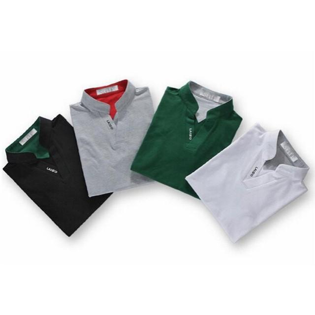 2017 Summer Classic Men's Stand Collar Polo T-Shirt