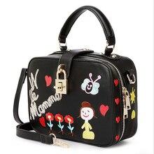 Série de broderie fait main fleur poupée lock flap sac une épaule cross-corps sac à main des femmes portables