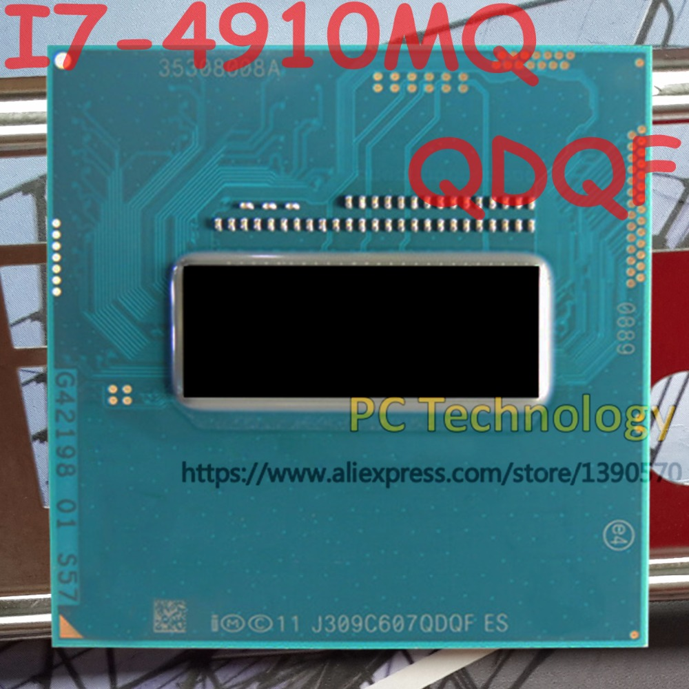 Original Intel Core I7 4910MQ QS Version QDQF CPU I7 4910MQ processor 2 9GHz L3 8M