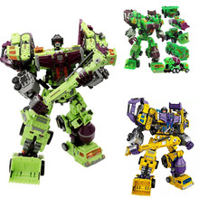 [Promotion] NBK 1-6 Action figure Robot Ko Devastator LONG HAUL Scraper Mixmaster Figure Toy Action Figure Toys for kids gift [hot] action figure ko version kids classic robot cars devastator right thigh action figure toys for children model toy