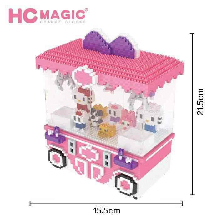 2018 Новый HC кран игровая площадка милый подарок для игры модели школьные Дети блок пластиковые строительные блоки Мальчики развивающие Подарочные игрушки