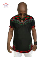 African Traditional Dresses African Clothing Traditional 2017 Hot Polyester Men Dashiki New Men's Round Neck T-shirt Cotton