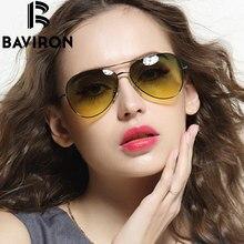 Baviron ультратонкие ноги Авиатор Солнцезащитные очки Для женщин Брендовая Дизайнерская обувь Очки Для мужчин для вождения зеркало очки унисекс пилот Защита от солнца Очки 3027
