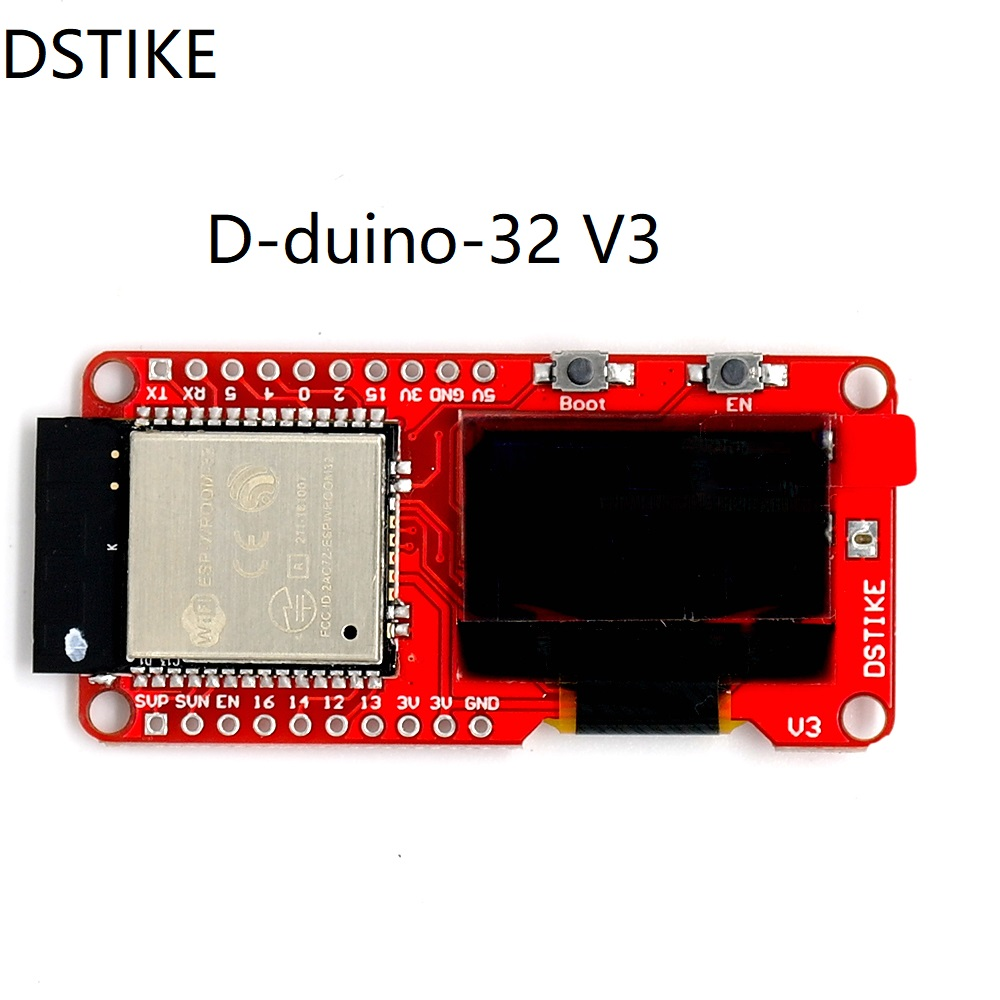 DSTIKE D-duino-32 V3 (ESP32 + Oled) ESP-Wroom-32 WiFi + Bluetooth BLE NodeMCU WIFI Internet de Choses conseil de développement basé ESP32