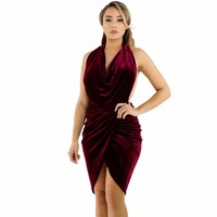 Vrouw dress lente 2017 gedrapeerde suede open back bodycon dress sexy party mini dress elegante vestido curto online kledingwinkel