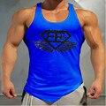 2016 New Mens Singlets Fitness tops Stringer Men bodybuilding Tank Tops Stringer Vest Tank Top Men sleeveless jersey
