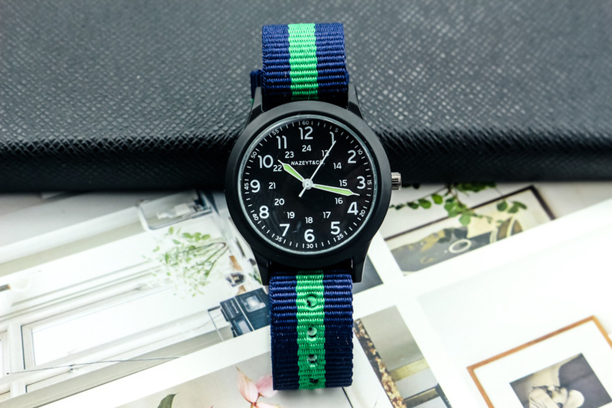 2019 Korean Men's Fashion Nylon Outdoor Luminous Military Watch Watch For Children In Primary And Secondary School Students