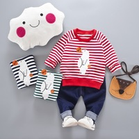 Nnilly 2018 Spring Boy Girls Children S Set Boys Clothing Set Suit Stripe Baby Girl Clothes