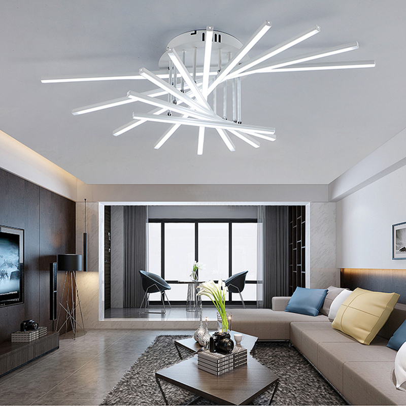 Fashional Creative modern LED chandelier lighting for living room Bedroom chandeliers luminarias para teto lamparas de techo fashional modern black