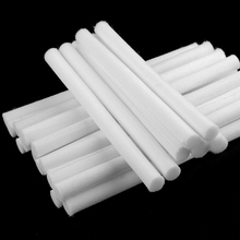 10pcs 8mm*130mm Cotton Swab for Air Humidifier for car diffuser Filters Can Be Cut Replace Parts 10pcs replacement filters usb humidifier cotton sliver stick cup air humidifier replacement filters high quality