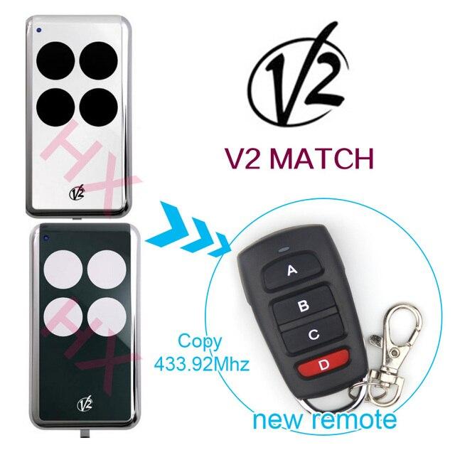 Copy V2 Match 43392mhz Remotes Universal Remote Control Electric
